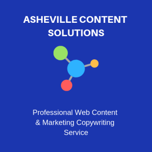 Asheville Content Solutions professional web content and copywriting service logo for website